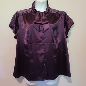 Tops - Cato Bow Tie Neck Blouse Size 22/24W